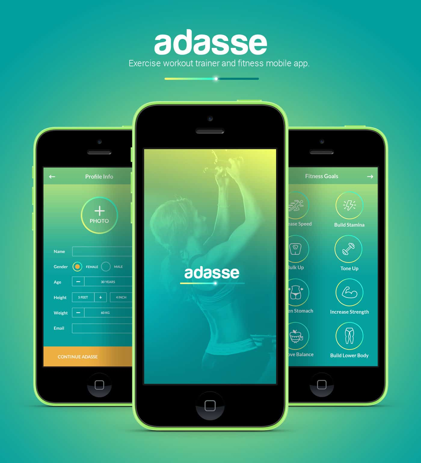 adasse gym workout mobile app by naresh kumar design ideas - App Design Ideas