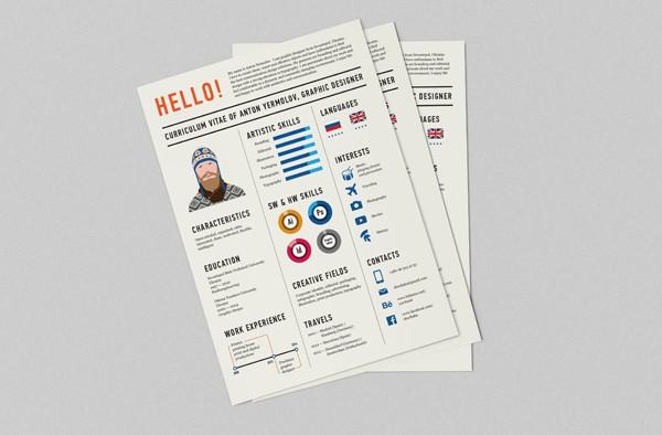 Curriculum Vitae By Anton Yermolov Design Ideas
