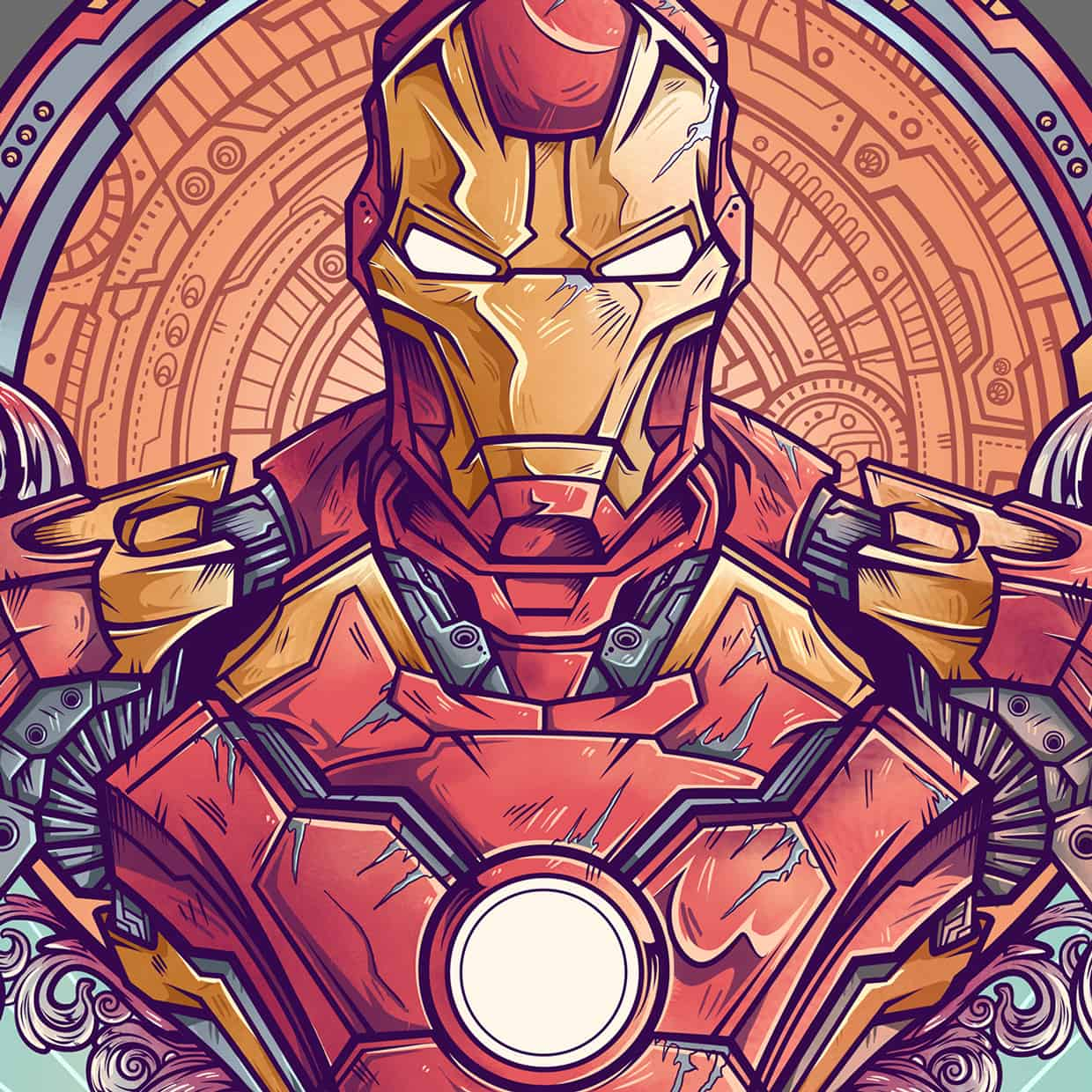 Art Vs Design : Ironman vs ultron by juan manuel orozco design ideas