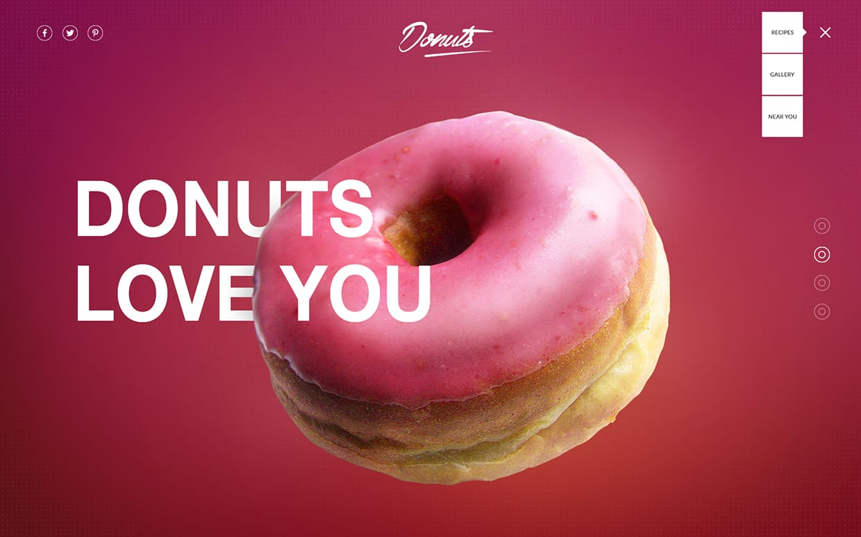 Donuts | Webdesign by Florian Pollet
