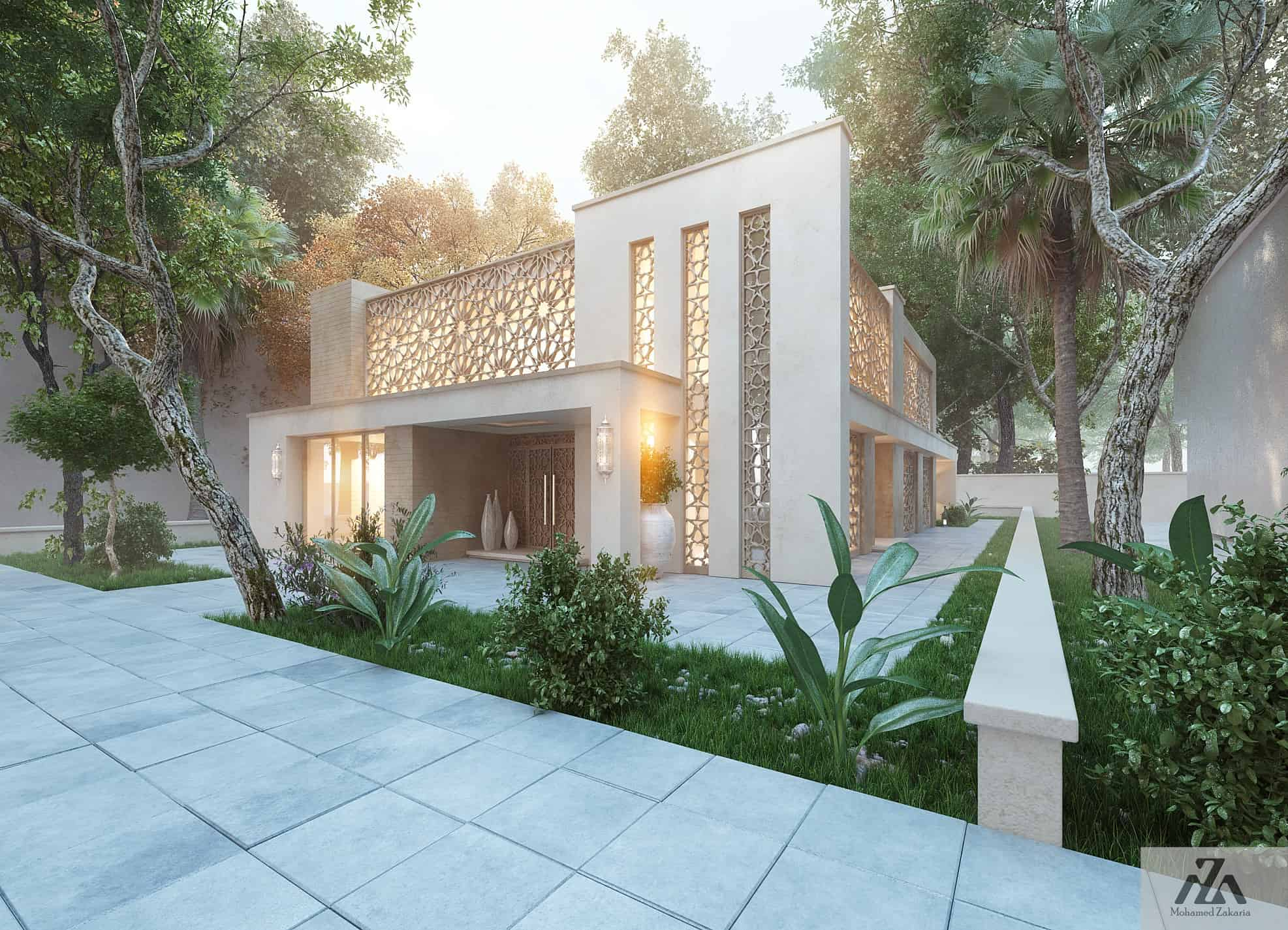 Arabic modern house by mohamed zakaria design ideas for Architecture islamique moderne