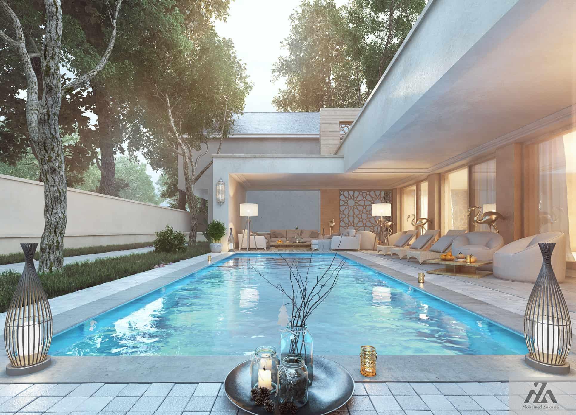 Arabic Modern House by Mohamed Zakaria - Design Ideas