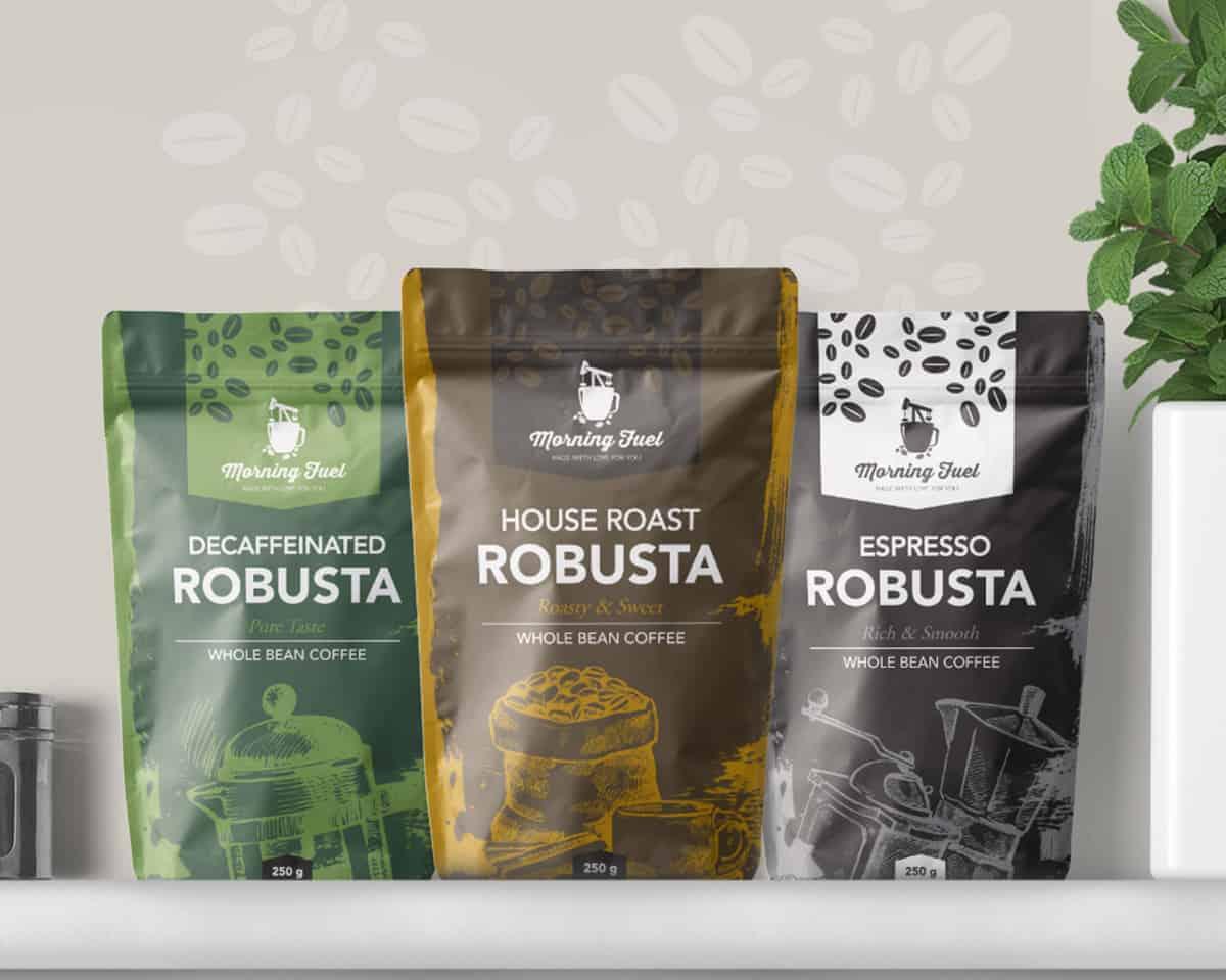 Morning Fuel Coffee Packaging