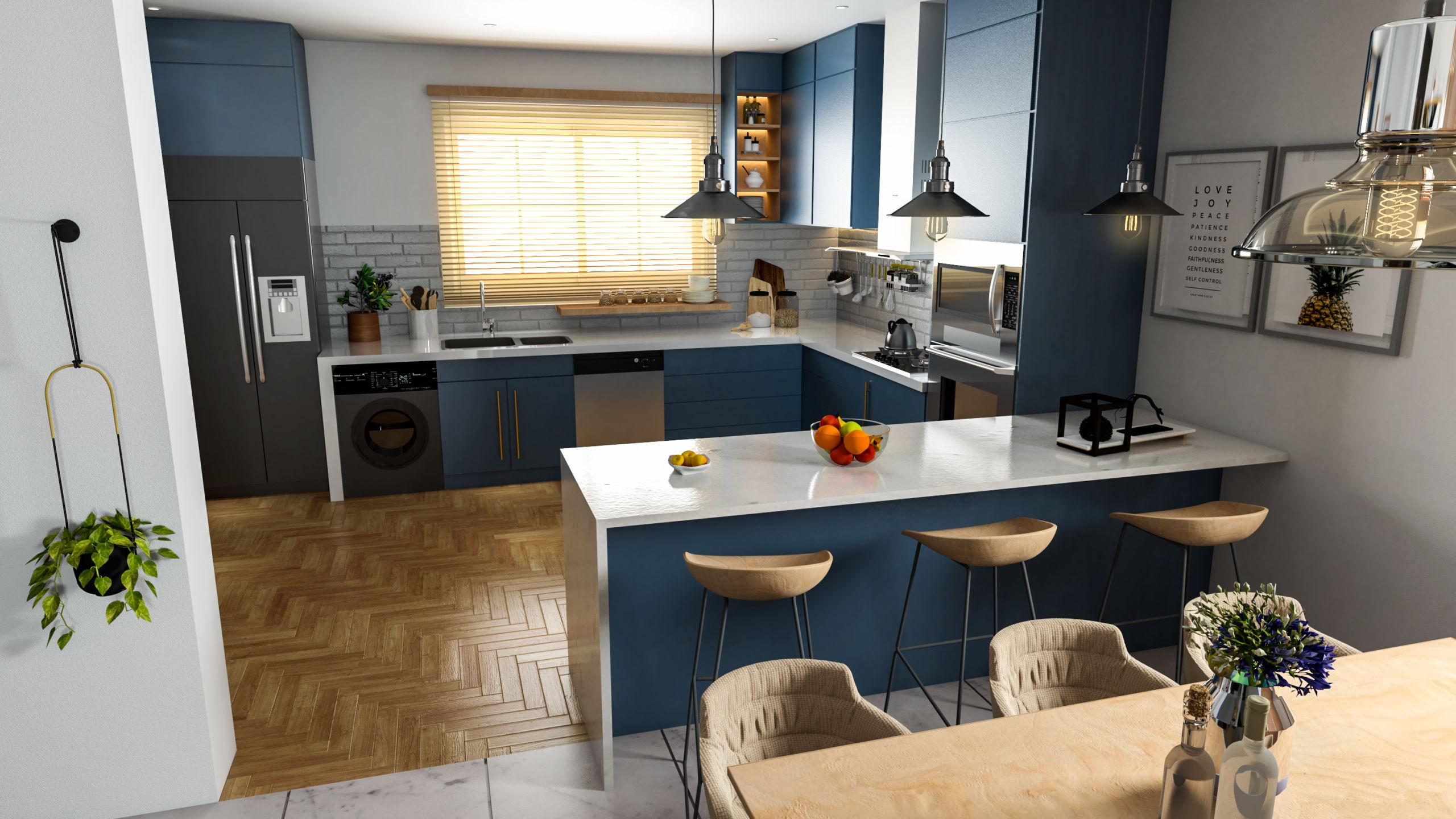 Modern Kitchen & Dinning Room