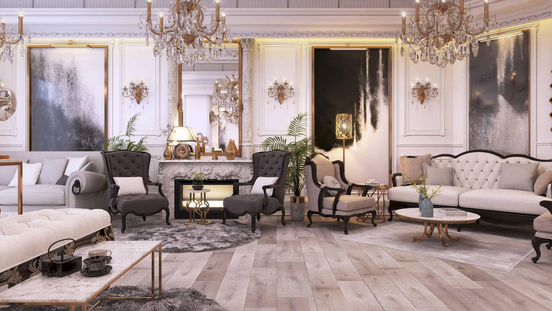 Luxury Classic Living Area Design Ideas