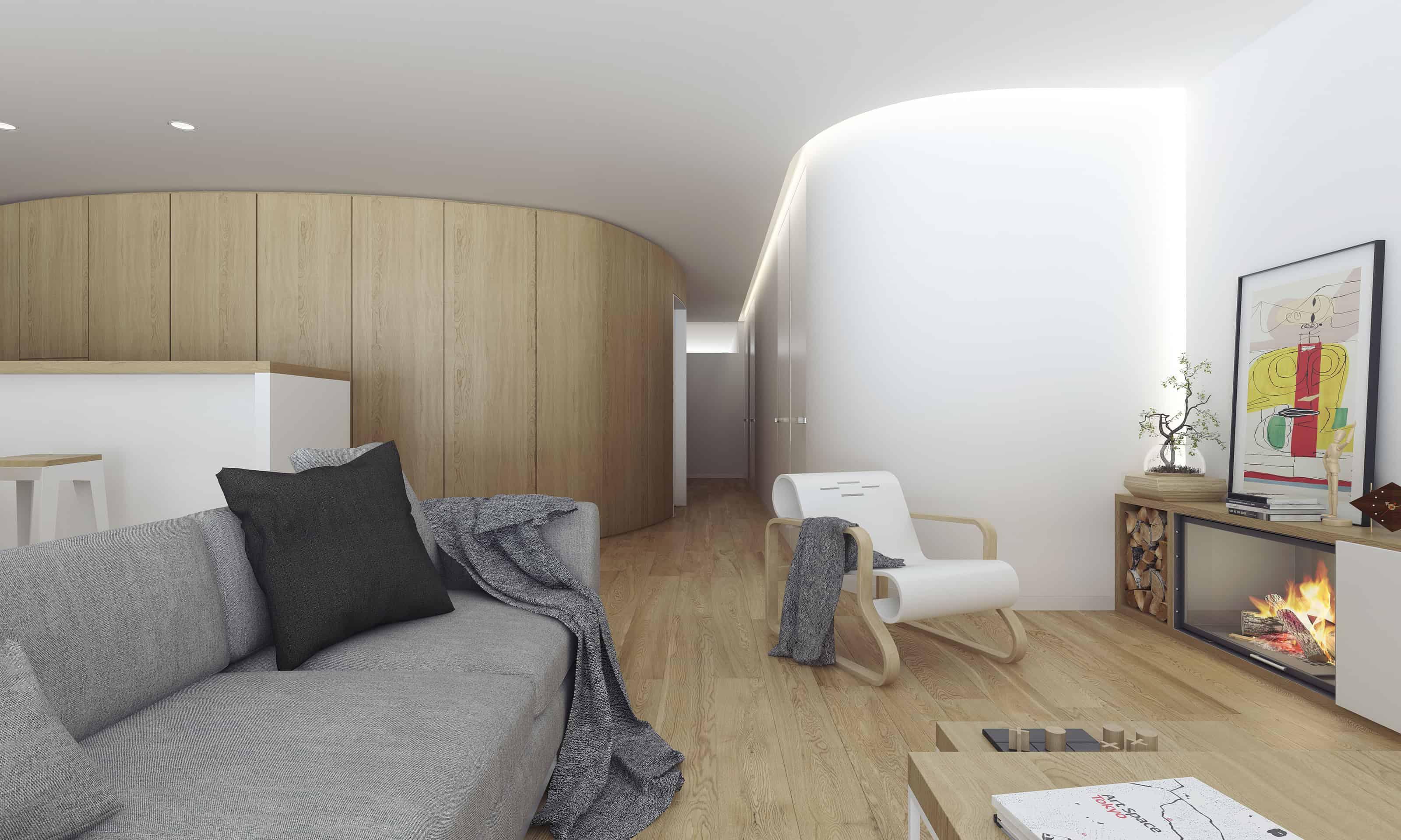 Modern Apartment Design in Ourense