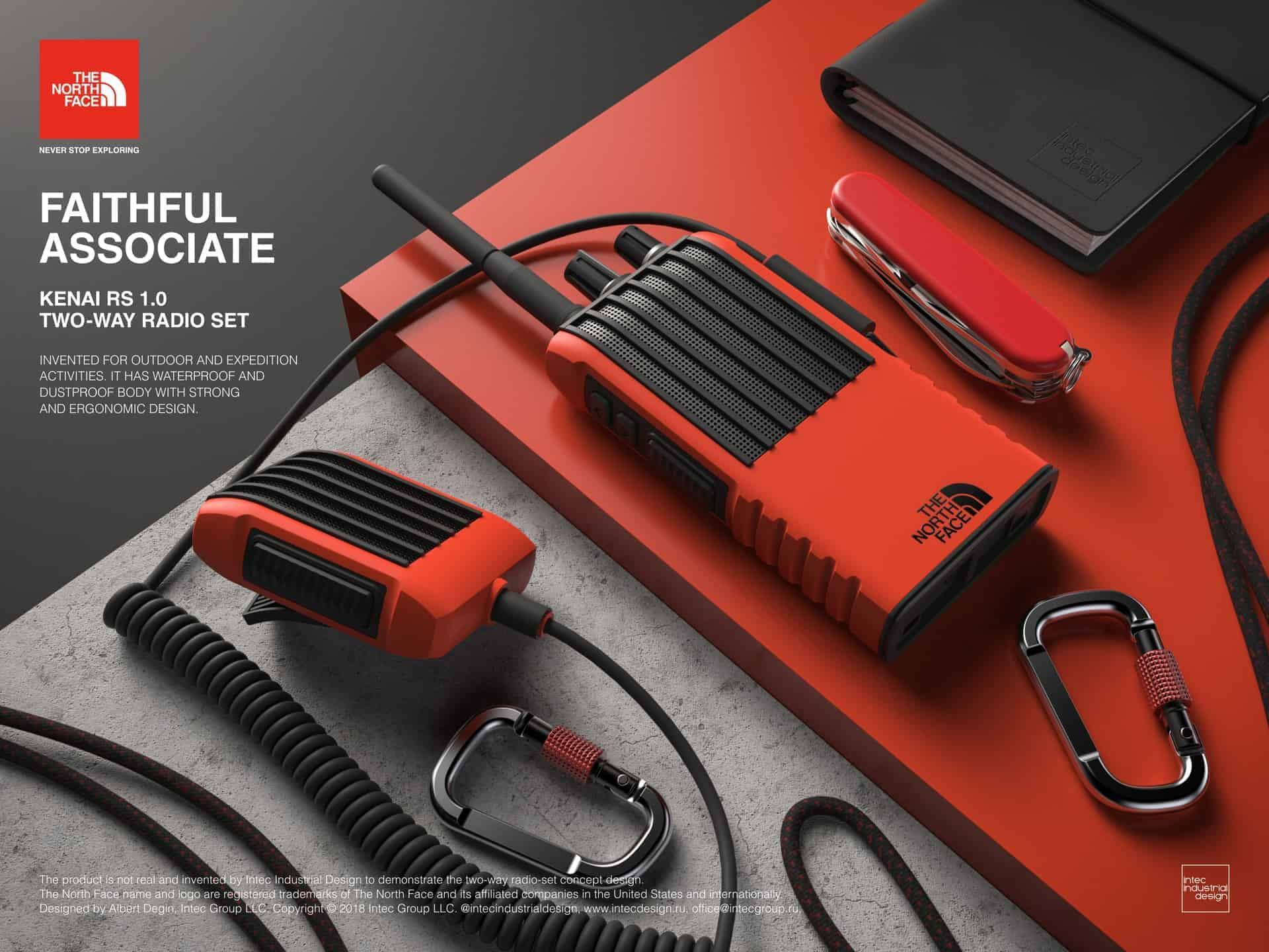The North Face two-way radio set concept