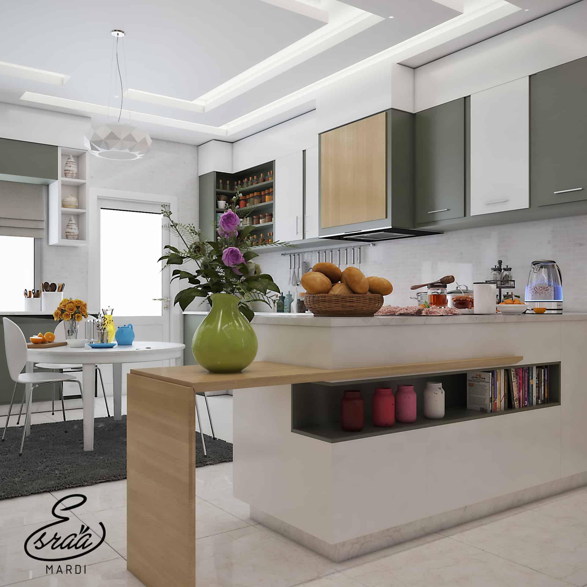 Living Area Decorating Ideas: Living Area & Kitchen
