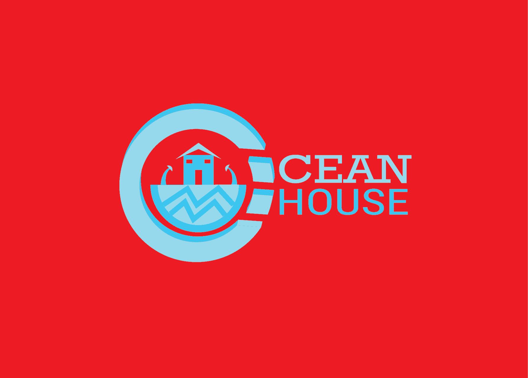 abstract Ocean House logo design