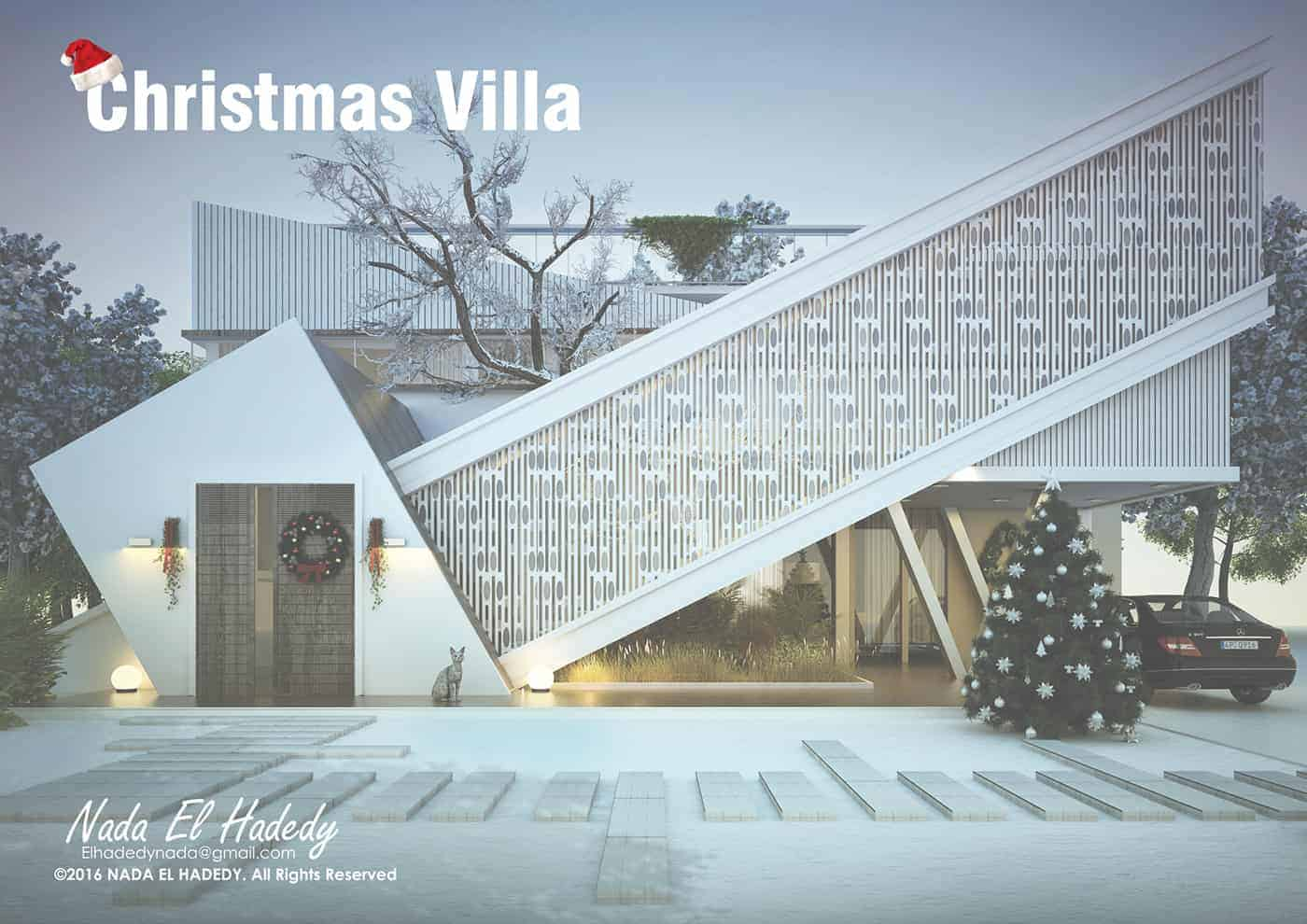 The christmas villa design ideas for Villa design ideas