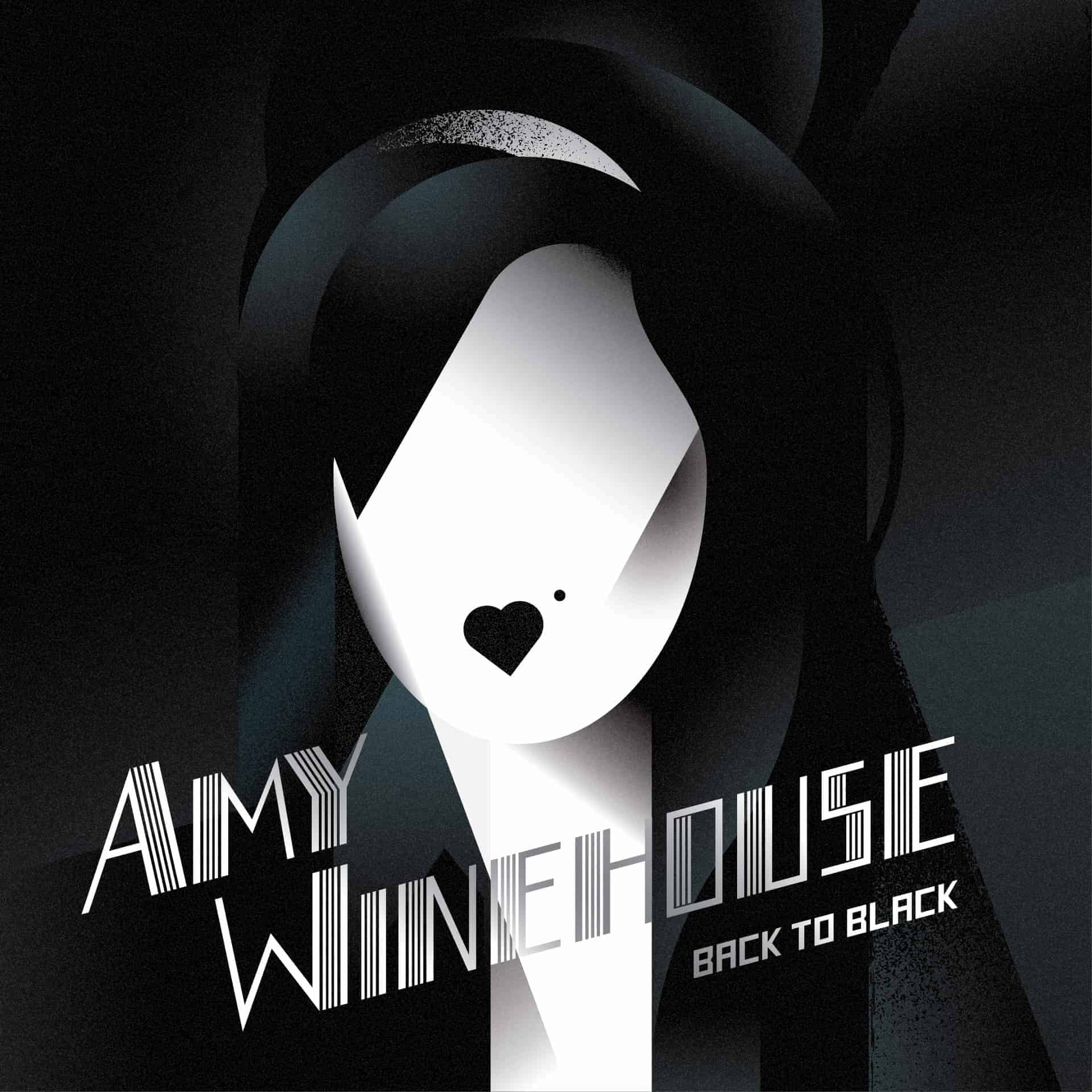 The Redesign of the Legendary 'BACK to BLACK' Record Cover of Amy Winehouse