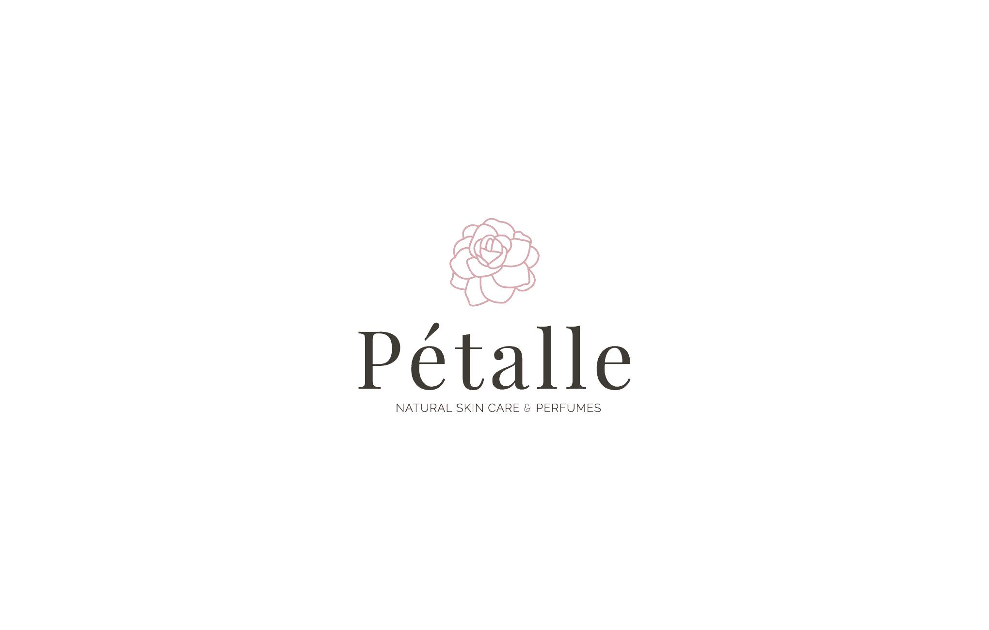Feminine Logo for PéTalle Natural Skin Care and Perfume