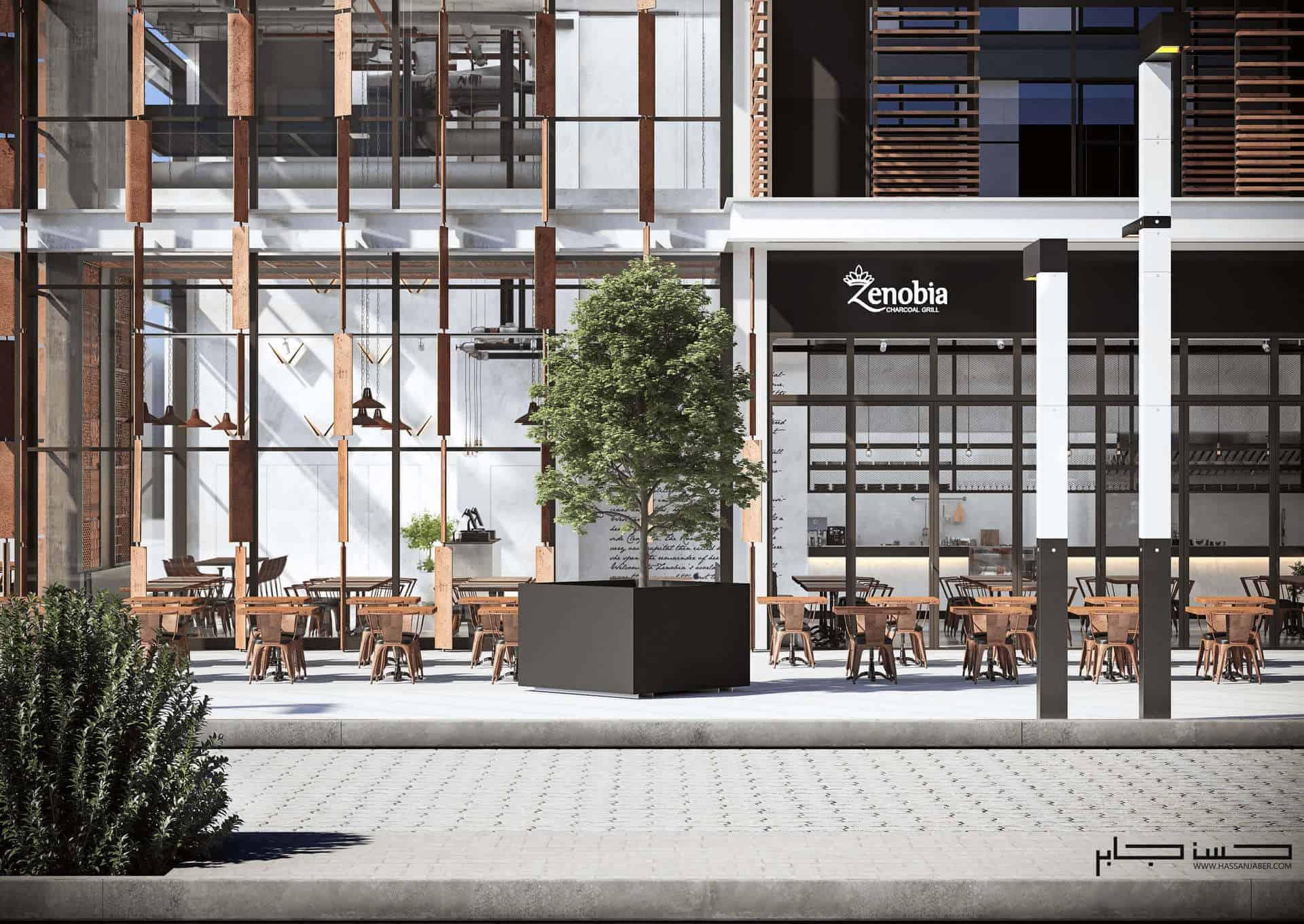 Industrial Restaurant Zenobia, Dubai