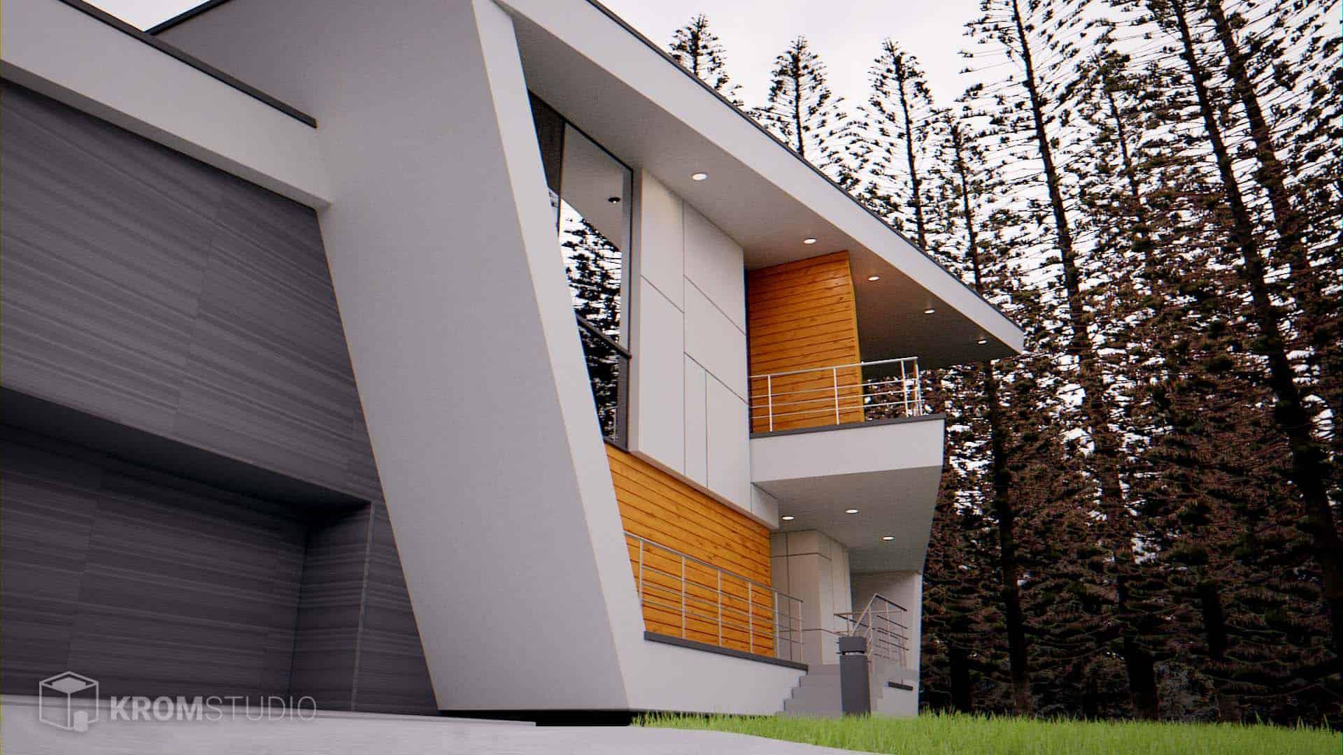 Modern Exterior Side View - Design Ideas