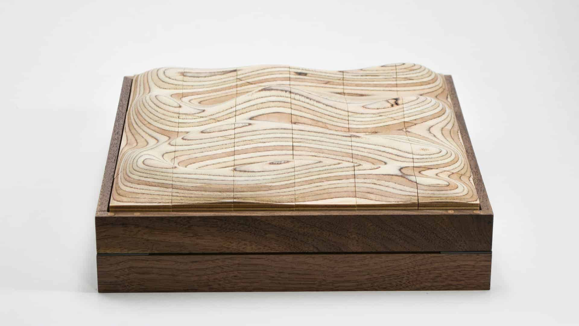Strata | A sculptural wooden surface puzzle - Design Ideas