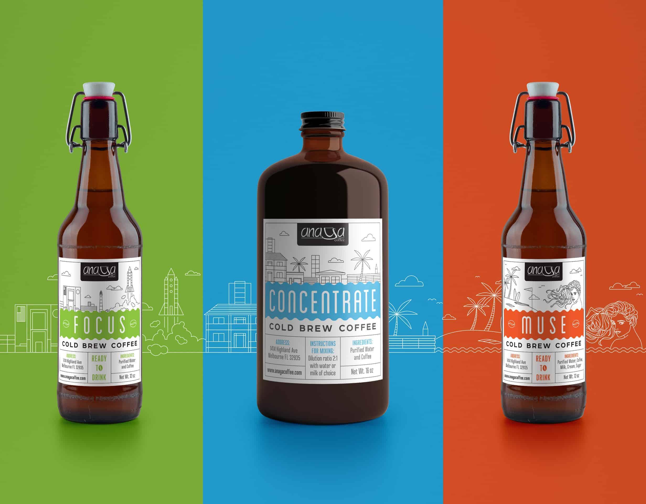 Anaya Coffee Cold Brew Labels by Ludmila Katagarova - Design ...